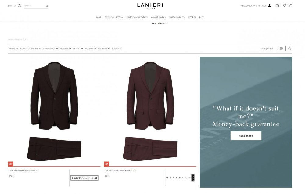 Lanieri Website